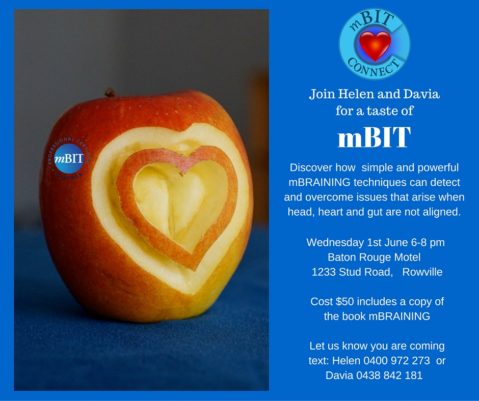 Join Helen and Davia at mBIT CONNECT for a Taste of mBIT Monday 4th April 3-